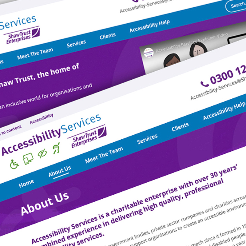 Pic showing Accessibility Services webpage montage