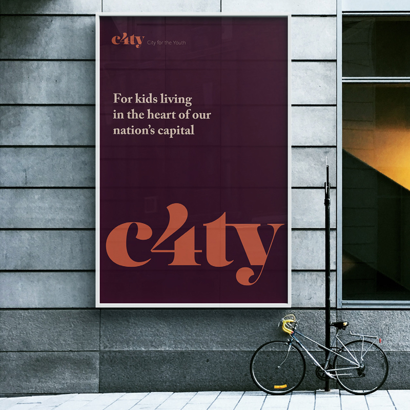 Pic showing C4ty poster on billboard