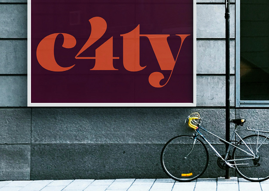 Pic showing the C4ty brand on a street poster