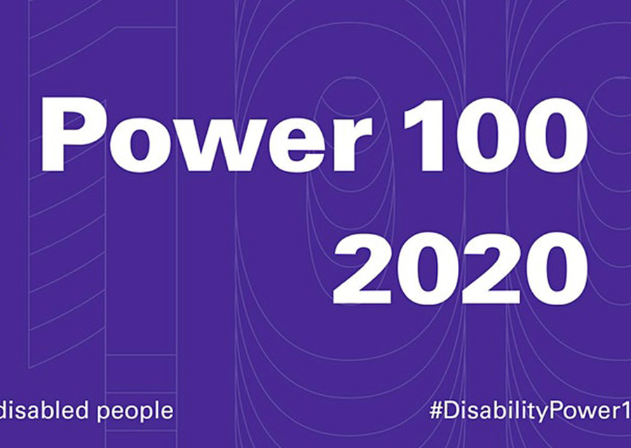 Pic showing the Power 100 2020 brand design