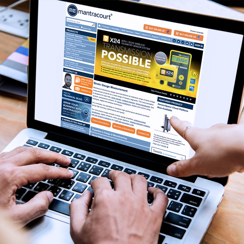 Pic showing the Mantracourt website displayed on a laptop screen