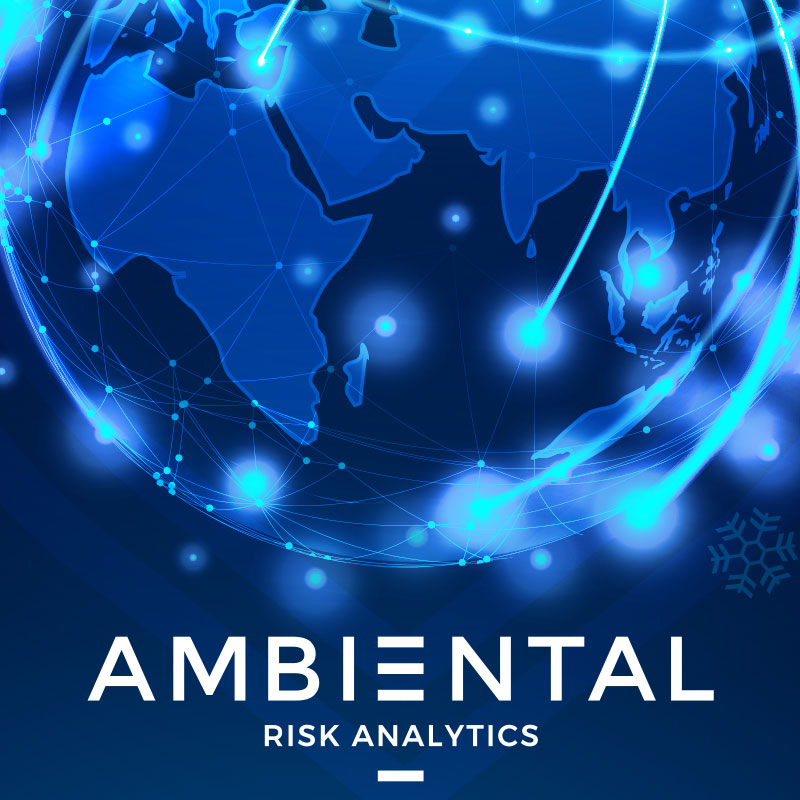 Pic showing a detail of the Ambiental Risk Analytics Ecard design