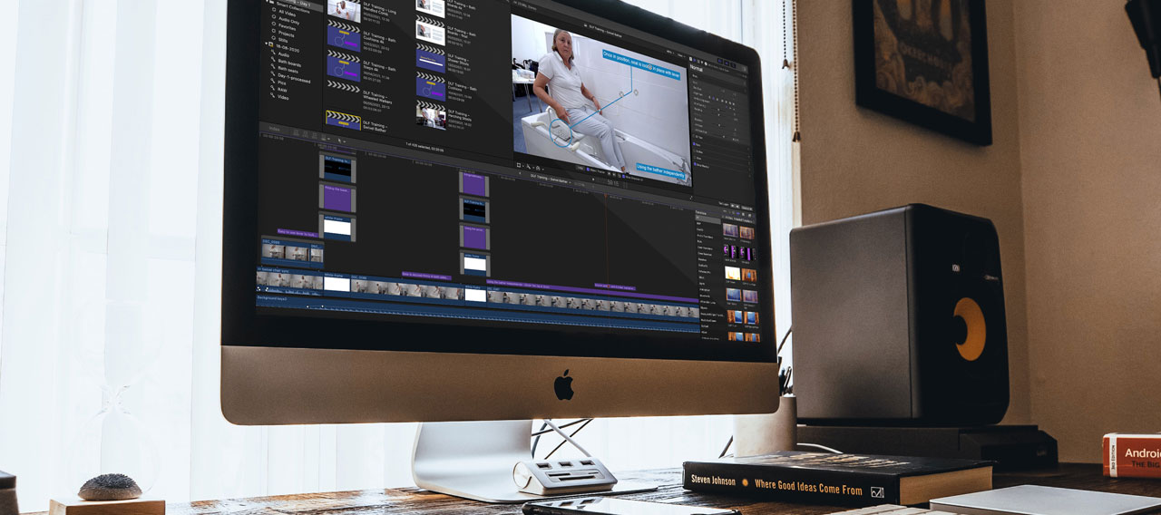 Pic showing a DLF film being edited on a computer
